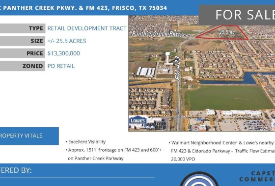 Frisco Land for sale Creek Pkwy