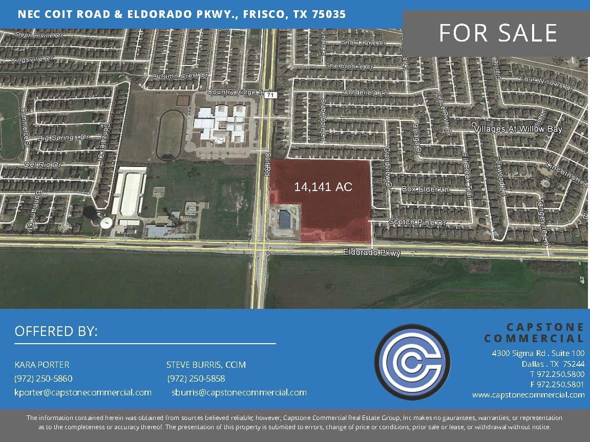NEC Coit Road Eldorado Pkwy Frisco TX Land for sale