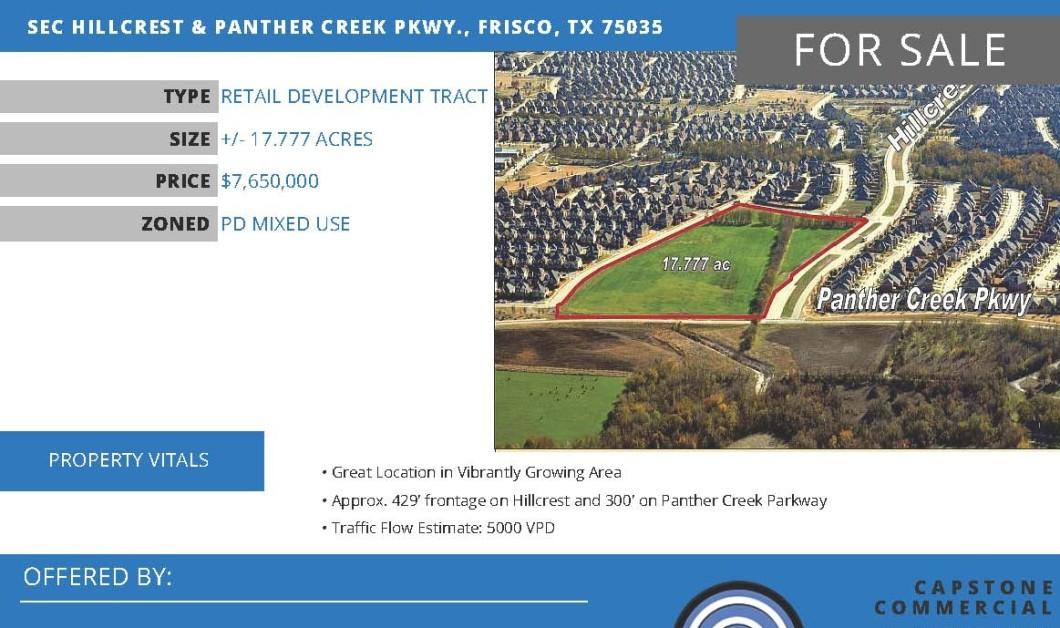 SEC Hillcrest Panther Creek Pkwy Frisco TX