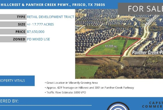 SEC Hillcrest Panther Creek Pkwy Frisco TX