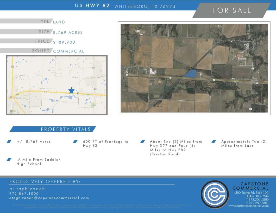 USHwy82_Whitesboro-land for sale