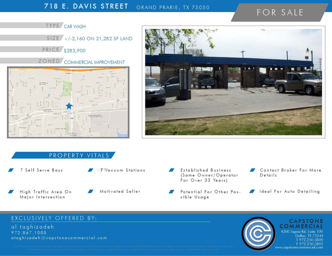 Carwash for sale Dallas TX