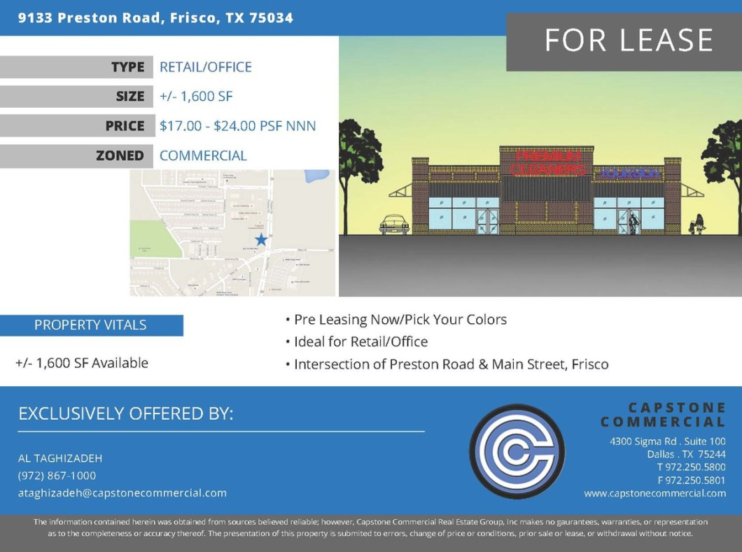 Preston Road Frisco commercial for lease