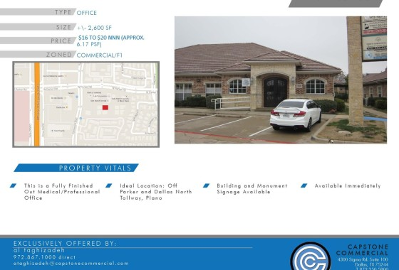 office for lease Plano